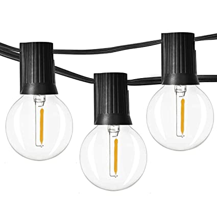 dedfb46ee Newpow 48ft LED Globe String Lights Dimmable with 25 G40 Vintage Edison LED  Bulbs (2