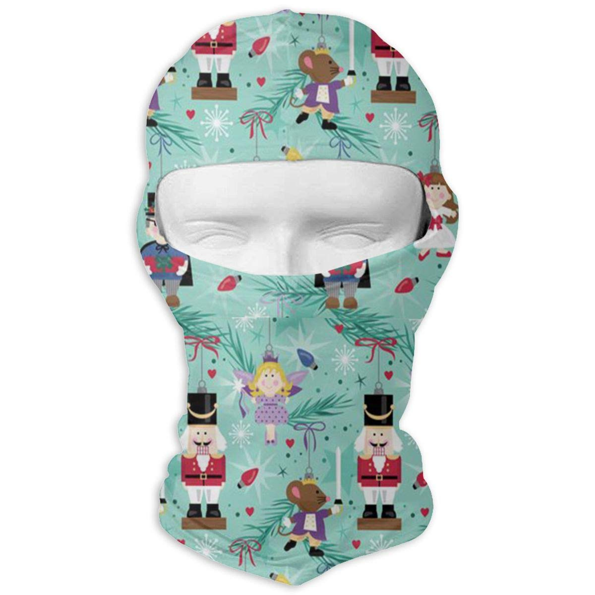 Gomop Ski Cap Cute Nutcracker Full Face Mask Wind-Resistant Face Mask