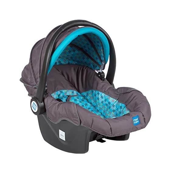 Mee Mee Baby Car Seat Cum Carry Cot with Thick Cushioned Seat (Sky Blue)
