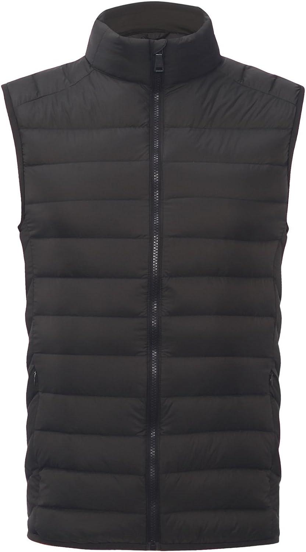 CHERRY CHICK Mens Ultralight Packable Puffer 90/% Down Padded Vest Hot Gift