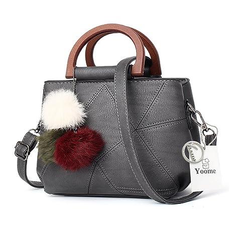 Yoome colgante de plumas Top Handle bolsos de la vendimia para las mujeres damas bolsos carteras