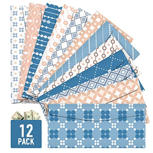 Cash Envelopes, 12 Pack Money Envelopes for Cash, Reusable Budget Envelopes for Budgeting Cute Dave Cash Envelope System Wallet