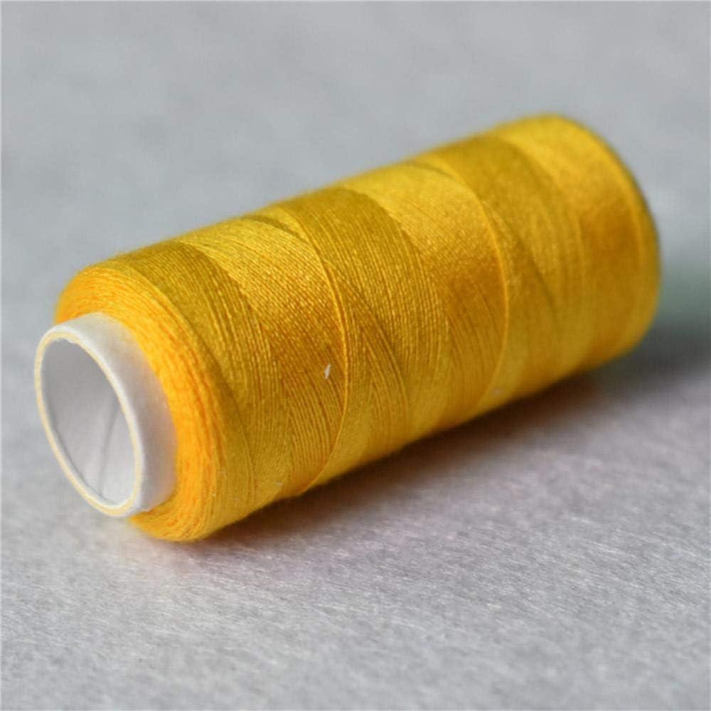 QINS Hilo de Coser de 200 Yardas Juego de Hilos de poli/éster Hilos de Coser Fuertes y duraderos para m/áquinas de Mano Accesorios de Coser Marr/ón