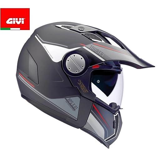 Amazon.es: GIVI HX01DN90061 Hps X01D Integral Casco Tourer, Color Negro Mate, Talla 61/XL