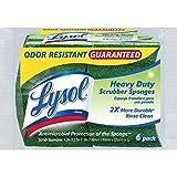 Quickie Lysol multiusos Durable Esponjas de limpieza, Paquete de 6, Alto desempeño, Paquete 6, 1