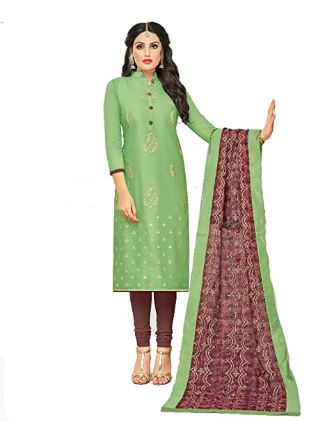 2a7b18d99c Shree Ganesh Retail Womens Party Wear Dress Material With Cotton Inner &  Fancy Banarasi Dupatta With