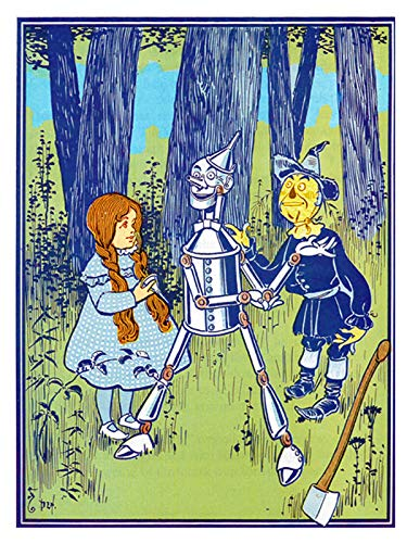 Dorothy Tin Woodman Scarecrow Wizard of OZ Counted Cross Stitch Pattern