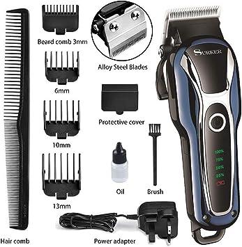 Juego de cortapelos inalámbrico, afeitadora de barba profesional ...