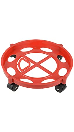 Home Market Gas Cylinder Trolley with wheels|Gas Trolly|Lpg Cylinder Stand,Color May Vary