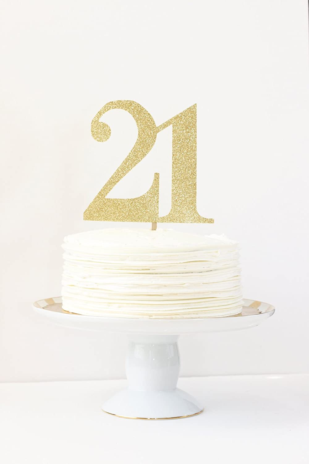 Amazon Gold Glitter 21st Birthday Cake Topper Party Decorations Number Age Supplies 30th 40th 50th 60th
