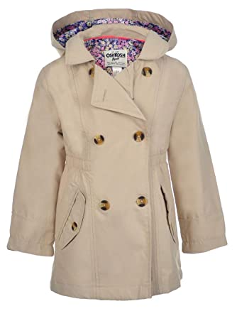 760a36251 Amazon.com  OshKosh B Gosh Girls  Hooded Trench Coat  Clothing