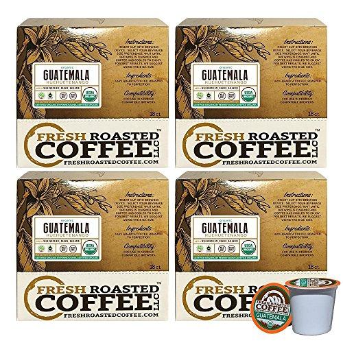 Guatemalan Huehuetenango FTO Single-Serve Organic Cups, 72 ct. of Single Serve Capsulesfor Keurig K-Cup Brewers, Fresh Roasted Coffee LLC.