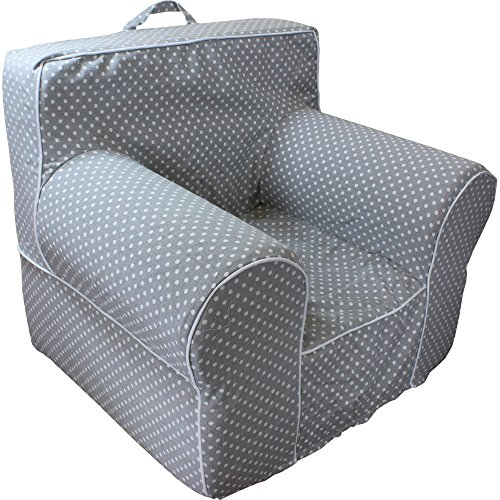 rsize Grey Microdot Kid's Chair with Machine Washable Removable Cover ()