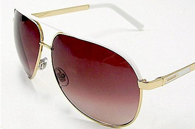 22292a50aee Image Unavailable. Image not available for. Colour  Gucci GG 1827 S 1827S  BNC YU Gold White Aviator Sunglasses 63mm