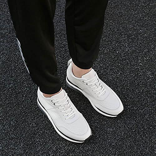 616yPhz%2BrBS. AC GOLDMoral Air Cushion Increasing Shoes for Men White Sneakers That Make You 8CM / 3.15 Inches Taller    Height Increase: 8CM / 3.15 InchesUpper Material: Calfskin LeatherLining Material: Genuine LeatherColor Selection: WhiteSeason: Spring,Summer,Autumn,Winter