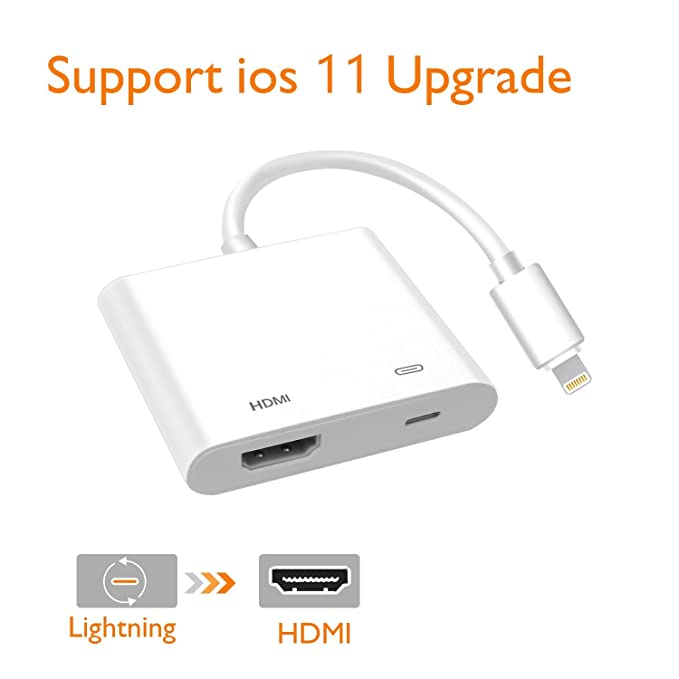 Lightning Digital AV Adapter Lighting to HDMI Adapter Compatible iPhone iPad and  sc 1 st  Amazon.com & Amazon.com: Lightning Digital AV Adapter Lighting to HDMI Adapter ...