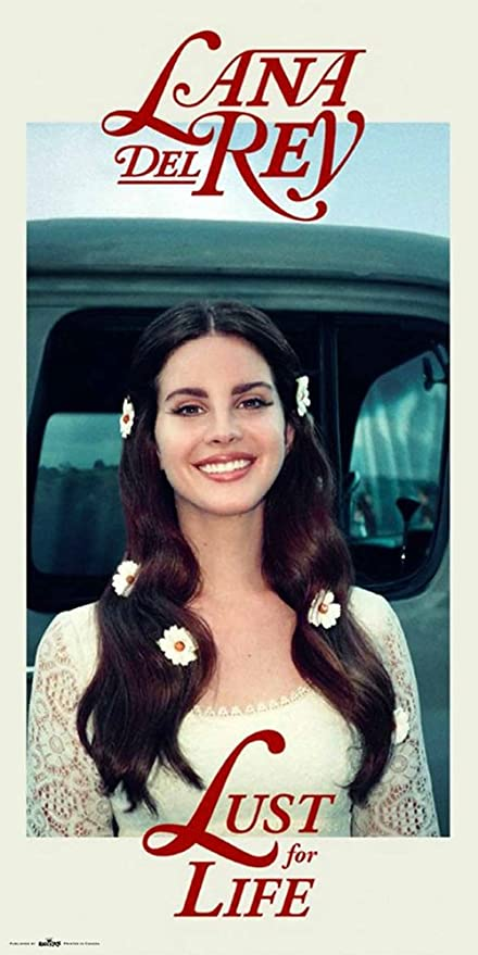 Amazon Lana Del Rey Poster Lust For Life 12in X 24in