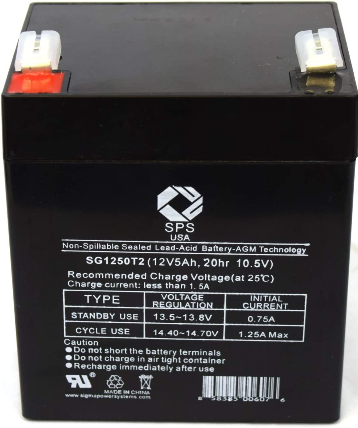 Replacement Battery for CP CP750LCD 12V 5Ah UPS Battery SPS Brand 1 Pack