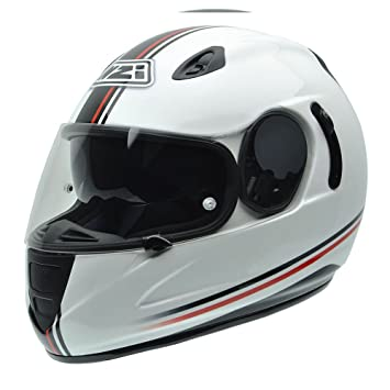 NZI 010264G729 Premium S Graphics SV Off Line Casco de Moto, Blanco, Negro y