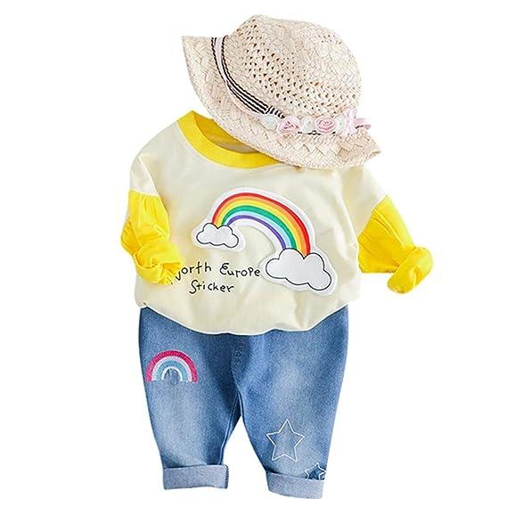 Mitlfuny Bebé Niñas Niño Conjunto de Ropa Camisetas de Manga Larga ...
