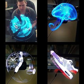 Portátil Reproductor de holograma 3d holográfica pantalla ...