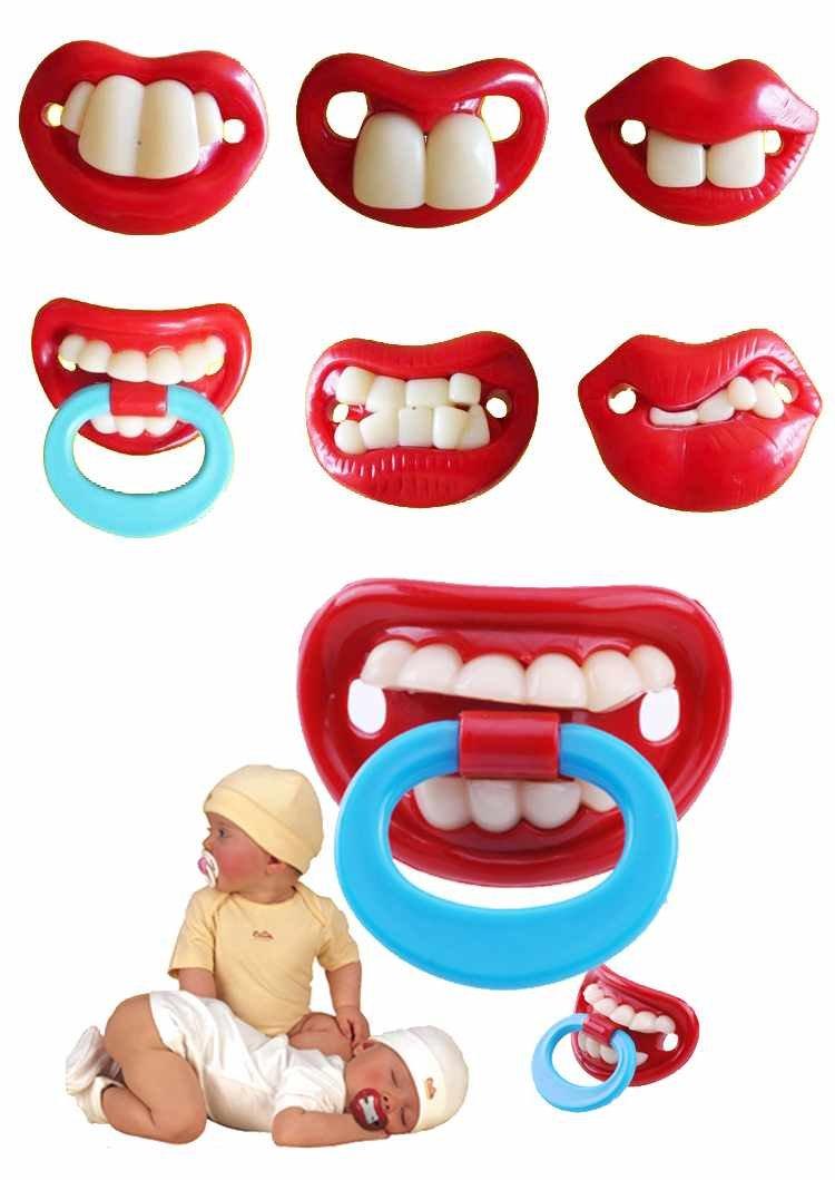 Amazon.com: Funny Bigote infantil Chupete Chupete de ...