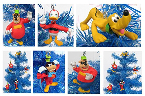 Duck Tales Holiday Christmas Ornament Set Featuring Scrooge