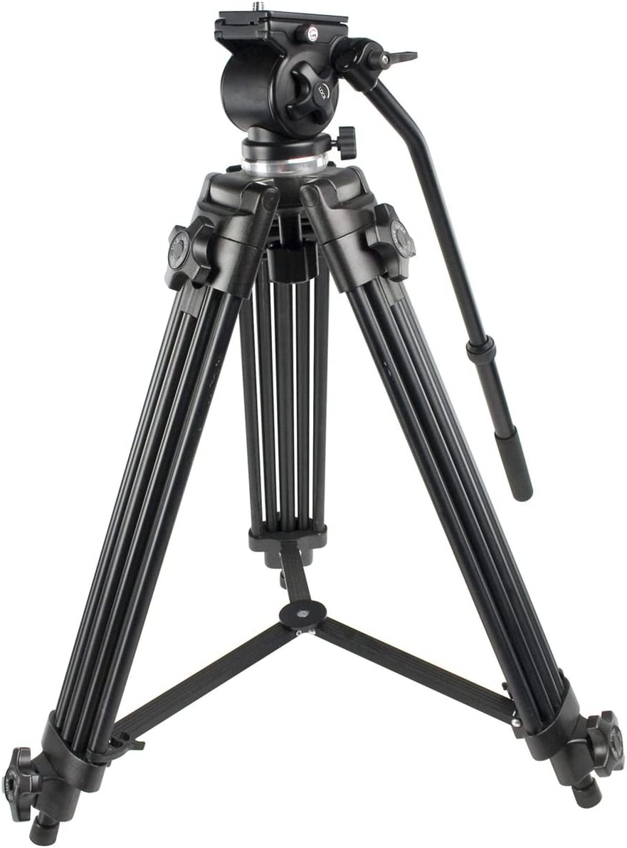 Konig Professional Camcorder Tripod with Advanced Fluid Damping system