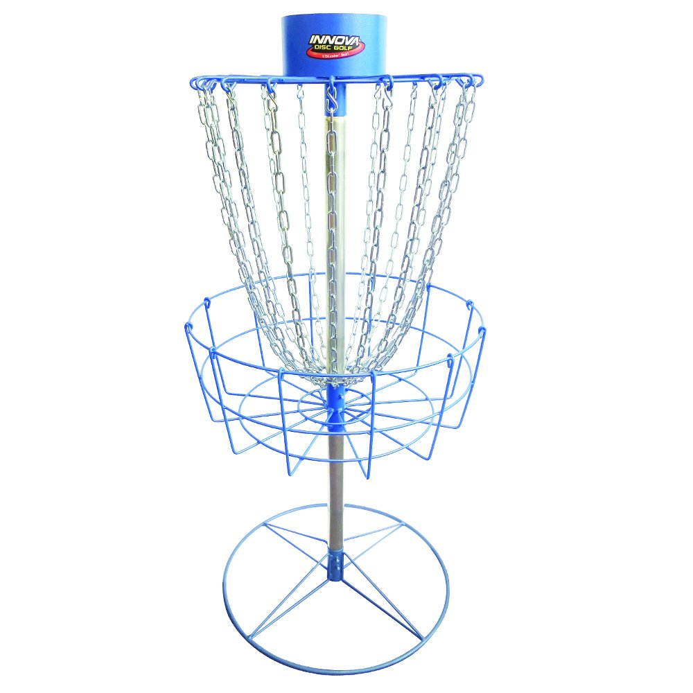 INNOVA Hammer Finish Discatcher Sport 18 Chain Portable Disc Golf Basket - Blue