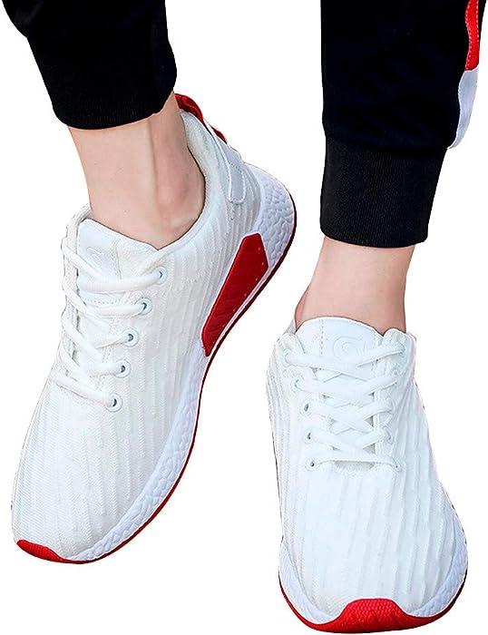 Zapatos de hombre JiaMeng Zapatillas de Deporte para Hombres Atlético Moda Al Aire Libre Malla Superficial Boca Cruzada Atado Zapatos Casuales Gimnasio ...