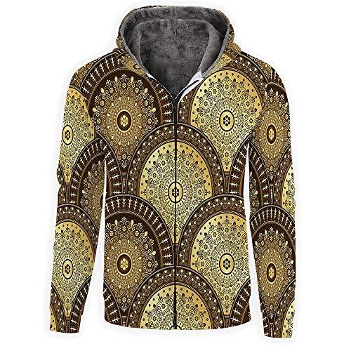 Gold Mandala 3D Print Pullover Hoodie Sweatshirt with Kangaroo Pocket