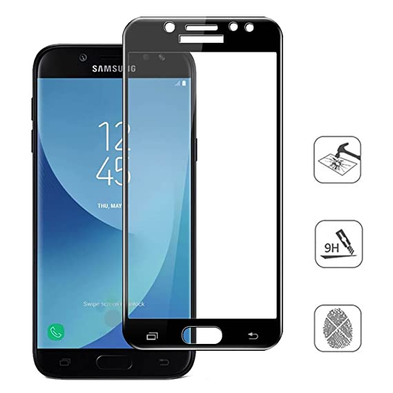 4f5b6cc36fa77c Full Cover Tempered Glass Protective Film Screen Protector Glass 9H  Hardness for Samsung Galaxy J7 Pro