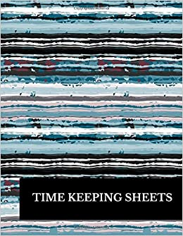 time keeping sheets large 8 5 inches by 11 inches log book to track