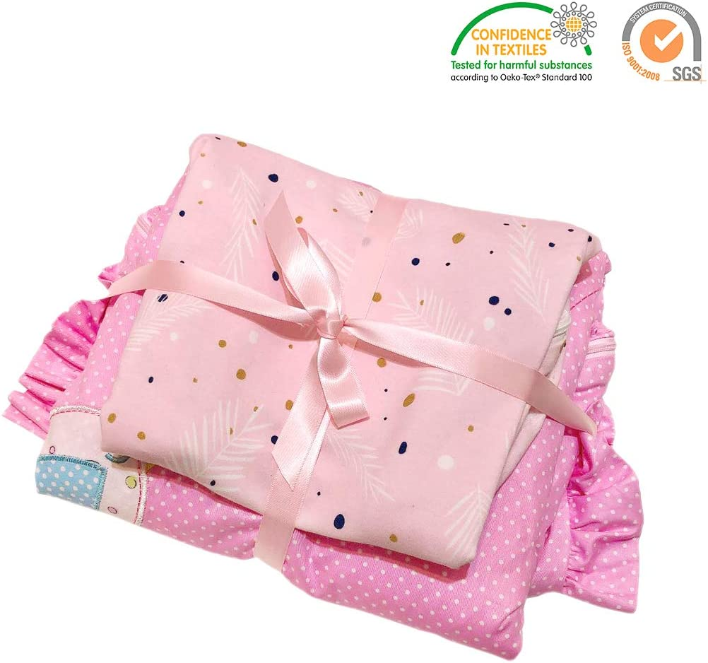 Baby Sleeping Bag Pink 2.5 Tog Swaddle 1 Tog Newborn Gift for Baby Shower