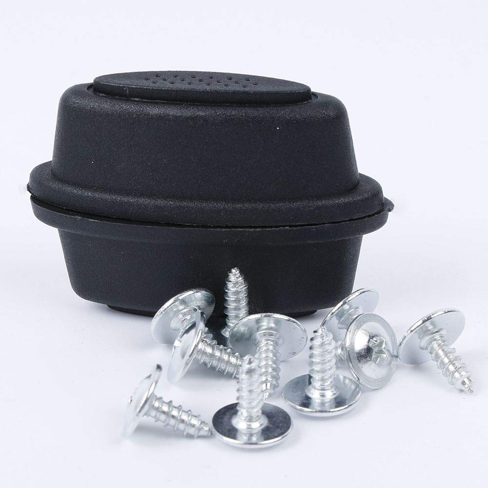 ORYOUGO 2 Pieces Luggage Stud Universal Black Feet Pad Replacement for Suitcases Parts Accessories with 10 Screws