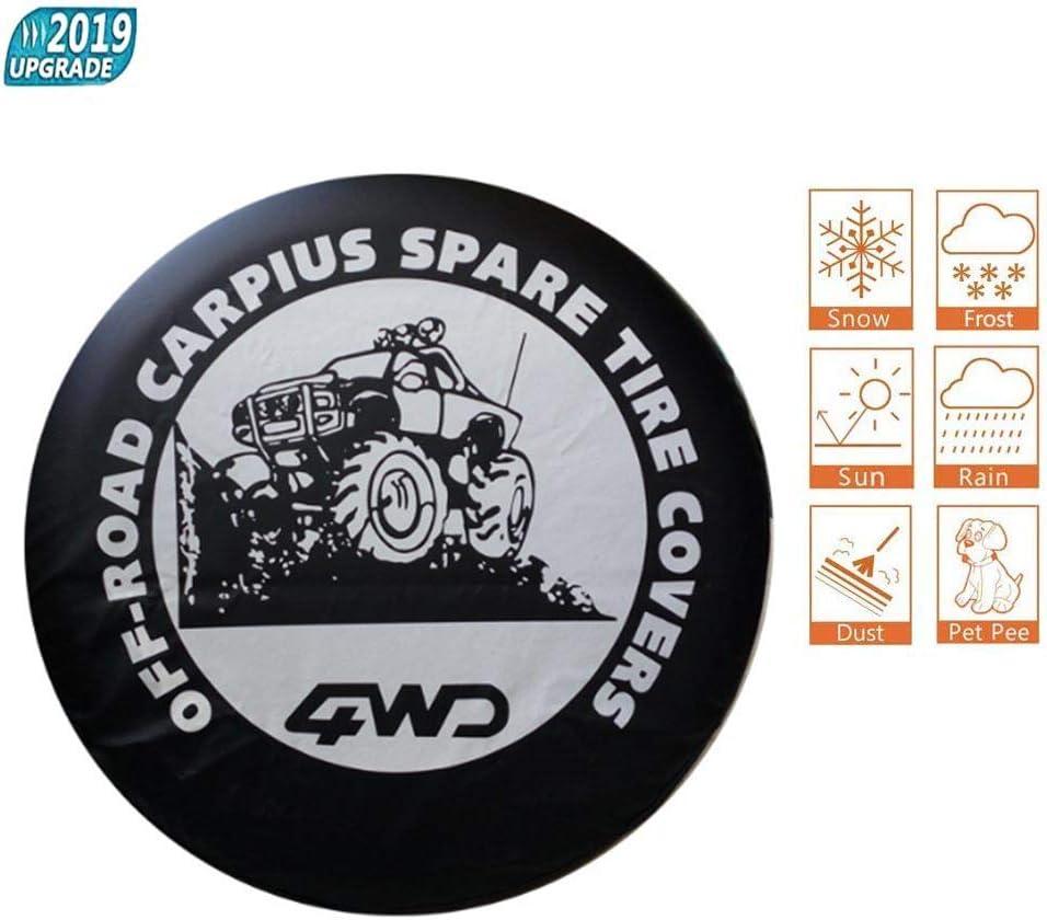 NNZZY Spare Tire Cover Reserveradabdeckung Wasserdicht Staubdicht Universal Reserveradabdeckung Fit F/ür Und Viele Fahrzeuge