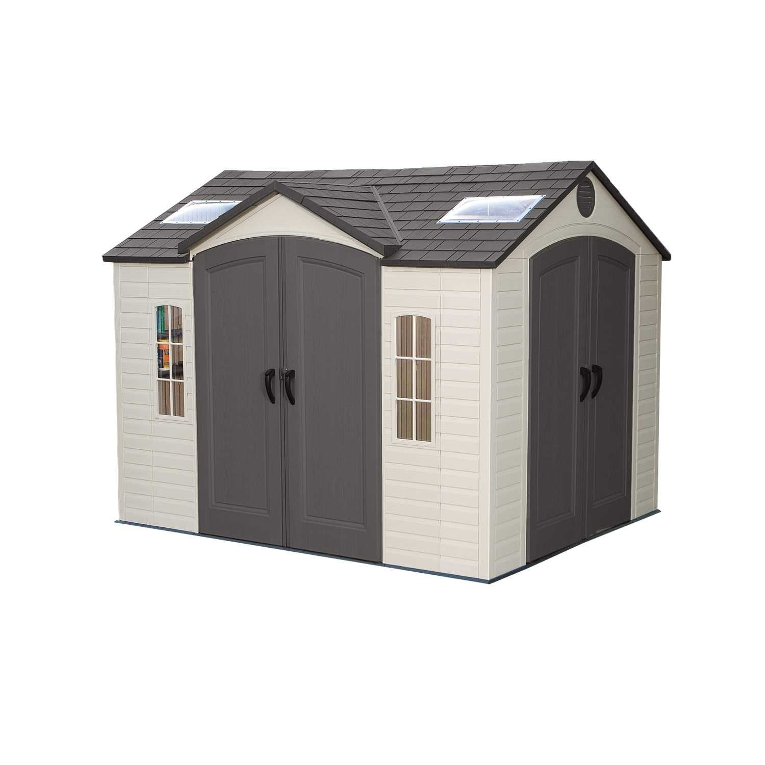 amazoncom lifetime 60001 outdoor storage shed 10 by 8 feet garden outdoor - Garden Sheds 7x7