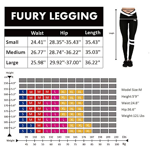 FUURY Womens Workout Legging Yoga Gym Running Fitness Sport Pants Athletic Soft Workout Gym Leggings