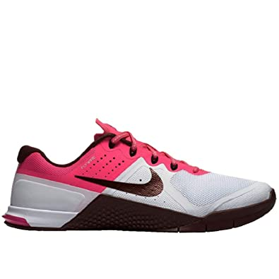 5589b480f202 Nike Women s Metcon 2 White NGHT Maroon Pnk BLST Blk Training Shoe 12 Women  US  Buy Online at Low Prices in India - Amazon.in