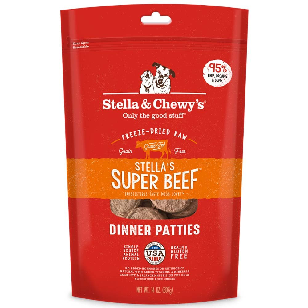 Stella & Chewy's Freeze-Dried Raw Stella's Super Beef Dinner Patties Dog Food, 14 oz. bag
