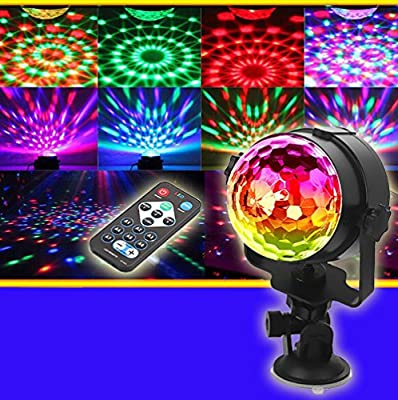LiPing 80 LEDs RGB Remote Stage Light For Stairway, Hallway, Cafe, Club, Bar - Colorful Spiral Hole Wall Lamp Surface Install LED Light Luminaire Lighting