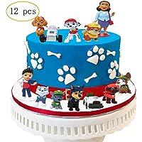 12 PCS Paw Dog Patrol Cake Topper,Birthday Party Cake Supplies