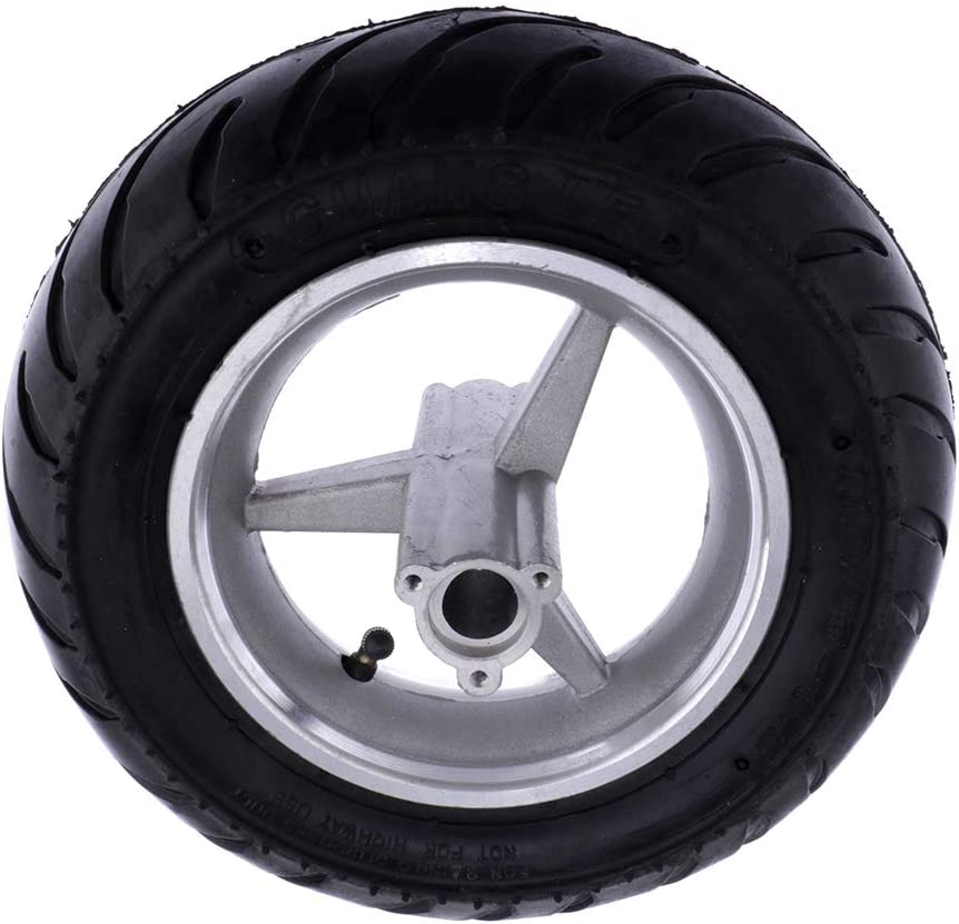 Almencla 110//50-6.5 Hinterrad Reifen mit Nabe f/ür 2-Takt 49cc Mini Monkey Pitbike Dirt Bike Pocket Bike