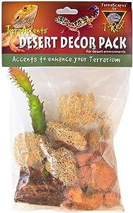 T-Rex Reptile Terrarium Décor Pack - Terra Accents Desert