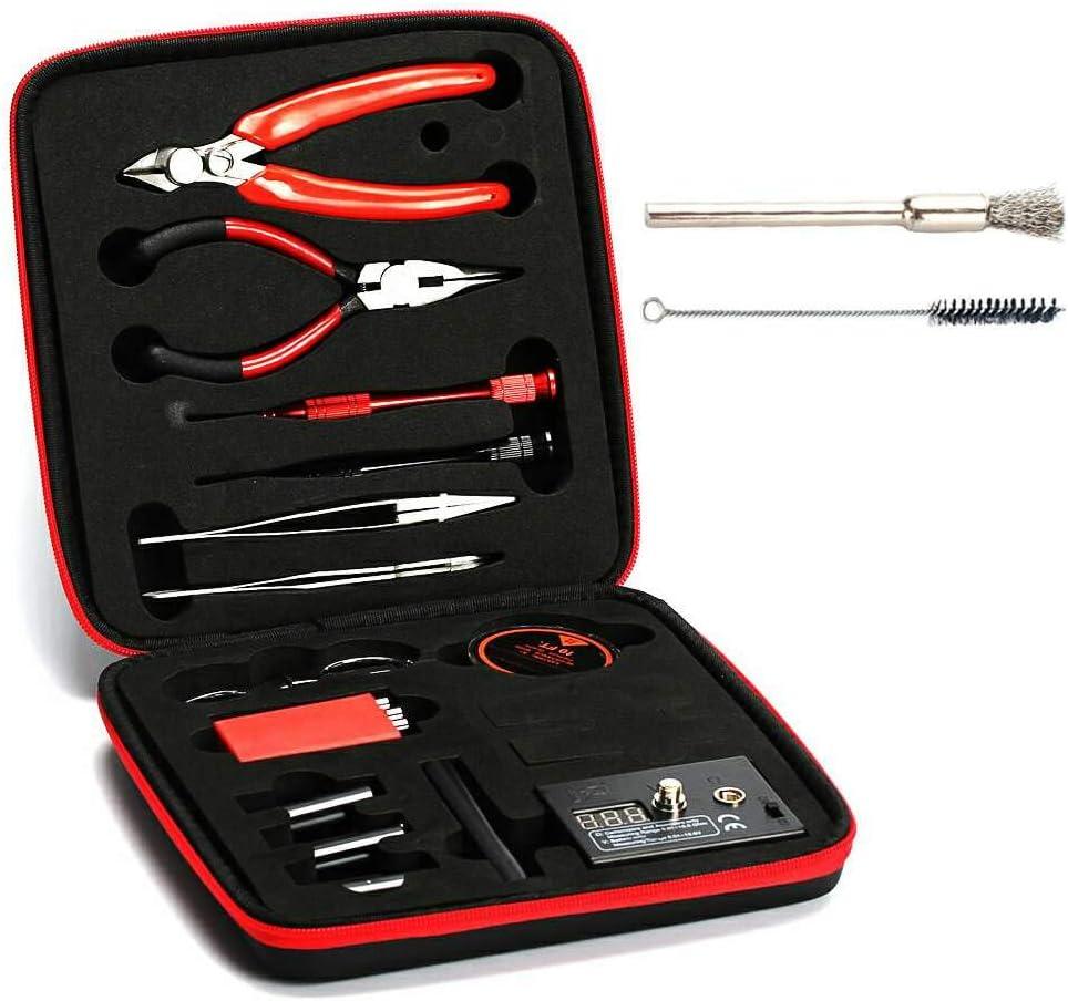 WYCY Coil Master Kit de Herramientas de Bobina 13 en 1 Kit de Herramientas de Vape Auténtico con la última Plantilla de Bobina (V2)