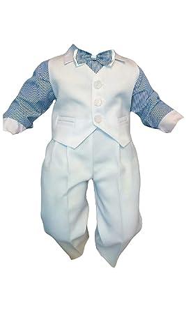 Taufanzug Baby Junge Kinder Hochzeit Anzuge Festanzug 4tlg Weiss