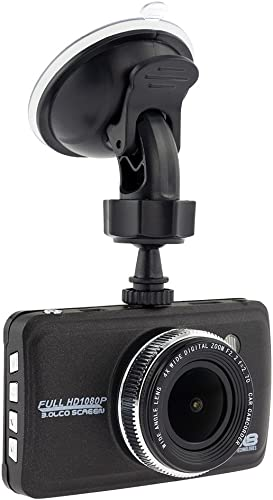 DS18 Black Box 3 LCD Full HD 1080P 170 Degree Wide Angle Car Dashboard Camera Recorder with G-Sensor, WDR, Night Visual Function. Multi-Language Options English, Spanish, Portuguese, and More