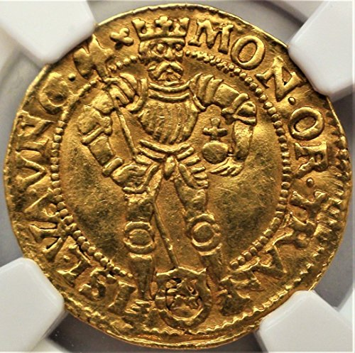 Certified Gold Coin - 1591 NL Netherlands Armored King Antique Gold Coin Early Year Ducat AU-55 NGC