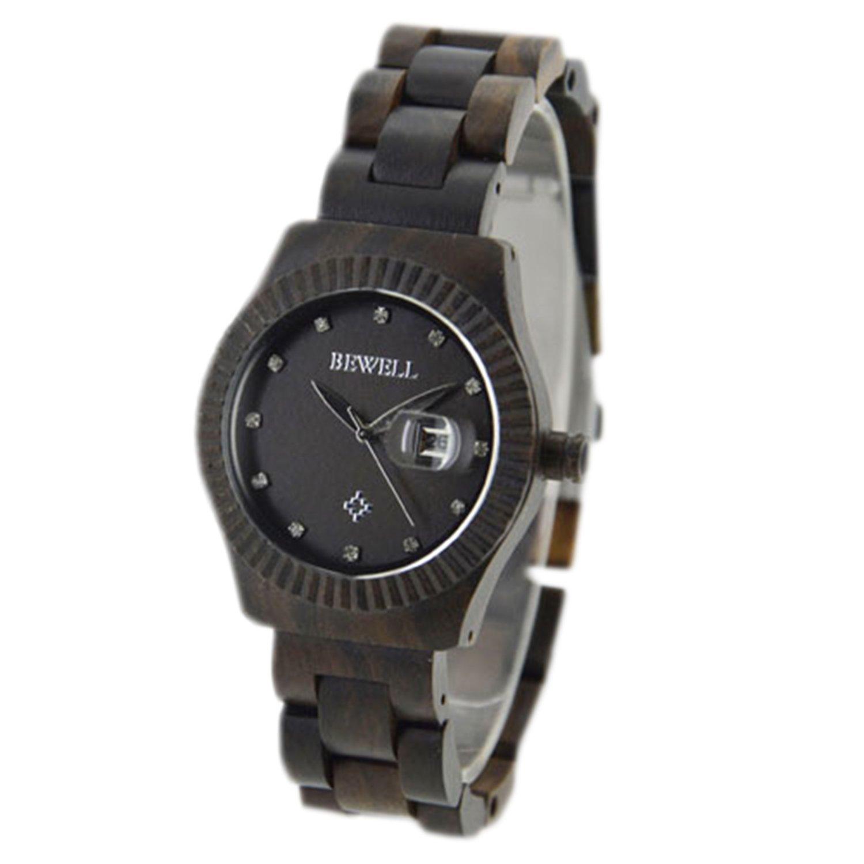 Amazon.com: WTLM005-Black sandal Women Dress Wood Wrist Watches Luxury Relojes: Watches