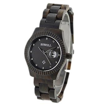 WTLM005-Black sandal Women Dress Wood Wrist Watches Luxury Relojes